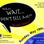 "Joel plays ""Wait, Wait, Don't Tell Me"" at Boulder's Congregation Nevei Kodesh - May 18"