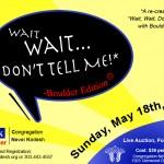 "Joel plays ""Wait, Wait, Don't Tell Me"" at Boulder's Congregation Nevei Kodesh - May 18"